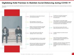 Digitalizing Hotel Premises To Maintain Social Distancing During COVID 19 Interaction Ppt Slides