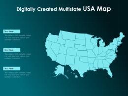 Digitally Created Multistate USA Map