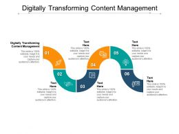 Digitally Transforming Content Management Ppt Powerpoint Presentation Icon Cpb