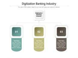 Digitization Banking Industry Ppt Powerpoint Presentation Icon Designs Cpb