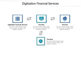 Digitization Financial Services Ppt Powerpoint Presentation Summary Graphics Design Cpb