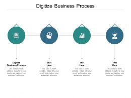 Digitize Business Process Ppt Powerpoint Presentation Professional Graphics Design Cpb