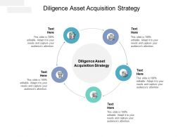Diligence Asset Acquisition Strategy Ppt Powerpoint Presentation Templates Cpb