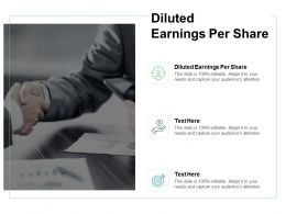 Diluted Earnings Per Share Ppt Powerpoint Presentation Outline Show Cpb