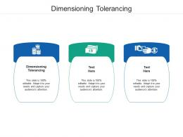 Dimensioning Tolerancing Ppt Powerpoint Presentation Ideas Sample Cpb