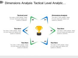 Dimensions Analysis Tactical Level Analytic Competitor Analytic Companies