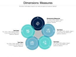 Dimensions Measures Ppt Powerpoint Presentation Infographic Template Graphics Template Cpb
