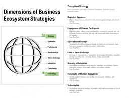 Dimensions Of Business Ecosystem Strategies