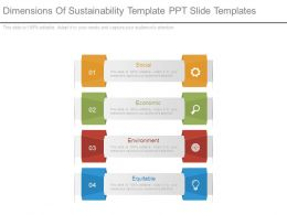 Dimensions Of Sustainability Template Ppt Slide Templates