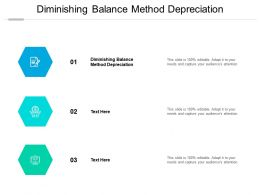 Diminishing Balance Method Depreciation Ppt Powerpoint Presentation Icon Brochure Cpb