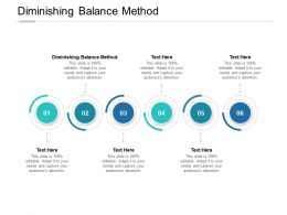 Diminishing Balance Method Ppt Powerpoint Presentation Icon Display Cpb