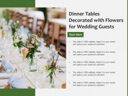 Dinner Tables Decorated With Flowers For Wedding Guests