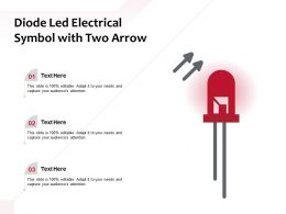 Diode Led Electrical Symbol With Two Arrow