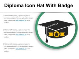 Diploma Icon Hat With Badge