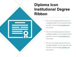 Diploma Icon Institutional Degree Ribbon