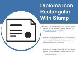 Diploma Icon Rectangular With Stamp