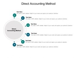 Direct Accounting Method Ppt Powerpoint Presentation Ideas Portfolio Cpb
