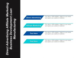Direct Advertising Affiliate Marketing Business Development Lean Manufacturing Cpb
