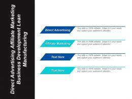 direct_advertising_affiliate_marketing_business_development_lean_manufacturing_cpb_Slide01