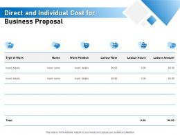 Direct And Individual Cost For Business Proposal Ppt Powerpoint Presentation Pictures