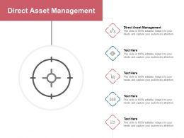 Direct Asset Management Ppt Powerpoint Presentation Summary Templates Cpb