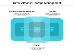 Direct Attached Storage Management Ppt Powerpoint Presentation Icon Format Cpb