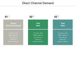 Direct Channel Demand Ppt Powerpoint Presentation Infographic Template Model Cpb