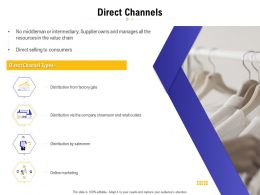 Direct Channels Ppt Powerpoint Presentation Summary Graphics Example