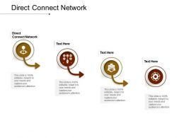 Direct Connect Network Ppt Powerpoint Presentation Model Slide Portrait Cpb
