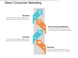Direct Consumer Marketing Ppt Powerpoint Presentation Infographic Template Objects Cpb