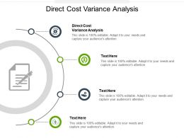Direct Cost Variance Analysis Ppt Powerpoint Presentation Slides Graphics Template Cpb