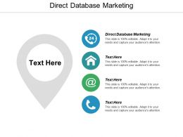 Direct Database Marketing Ppt Powerpoint Presentation Ideas Graphics Cpb