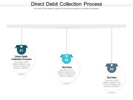 Direct Debit Collection Process Ppt Powerpoint Presentation Gallery Skills Cpb