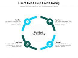 Direct Debit Help Credit Rating Ppt Powerpoint Presentation Portfolio Ideas Cpb