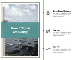 Direct Digital Marketing Ppt Powerpoint Presentation Pictures Guidelines Cpb