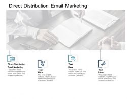 Direct Distribution Email Marketing Ppt Powerpoint Presentation Skills Cpb