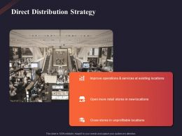 Direct Distribution Strategy Ppt Powerpoint Presentation Visual Aids Example 2015