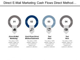 Direct E Mail Marketing Cash Flows Direct Method Statement Cpb