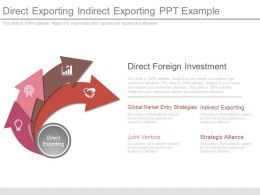 Direct Exporting Indirect Exporting Ppt Example