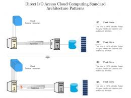 Direct I O Access Cloud Computing Standard Architecture Patterns Ppt Powerpoint Slide