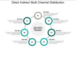 Direct Indirect Multi Channel Distribution Ppt Powerpoint Presentation Model Icons Cpb