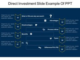 Direct Investment Slide Example Of Ppt