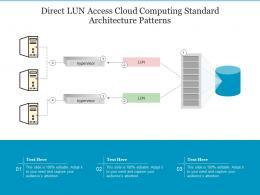 Direct LUN Access Cloud Computing Standard Architecture Patterns Ppt Presentation Diagram