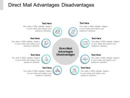 Direct Mail Advantages Disadvantages Ppt Powerpoint Presentation Professional Graphics Pictures Cpb
