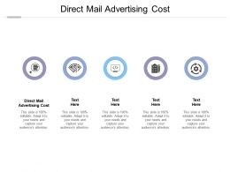 Direct Mail Advertising Cost Ppt Powerpoint Presentation Portfolio Icon Cpb