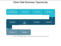 Direct Mail Business Opportunity Ppt Powerpoint Presentation Icon Gridlines Cpb