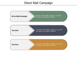 Direct Mail Campaign Ppt Powerpoint Presentation Ideas Graphics Template Cpb