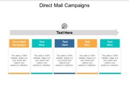 Direct Mail Campaigns Ppt Powerpoint Presentation File Ideas Cpb