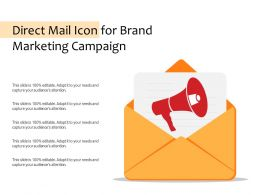 Direct Mail Icon For Brand Marketing Campaign