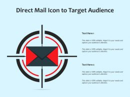 Direct Mail Icon To Target Audience